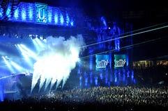 Dj mixing live Stock Image