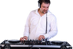 DJ mixing music. Stock Photos