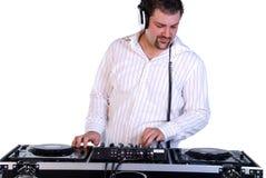 DJ mixing music. Stock Photos