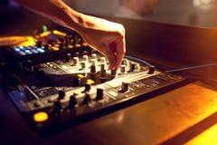 DJ mixing music Stock Photo