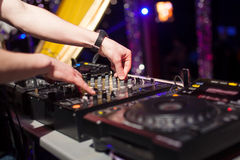 DJ mixing music Royalty Free Stock Image