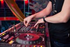 DJ mixing music Royalty Free Stock Photo