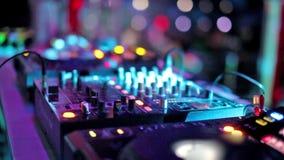 Dj mixing at the night club.