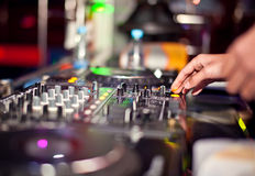 Dj mixing Royalty Free Stock Photo