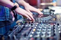 Dj mixing Stock Image