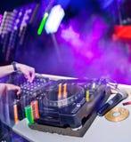 Dj mixing Stock Photography