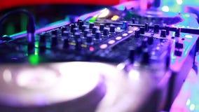 Dj mixing stock video