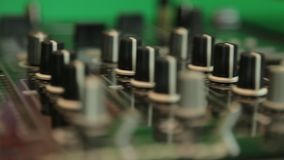Dj mixing panel close up stock video footage