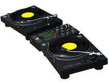 DJ mixing set Stock Images