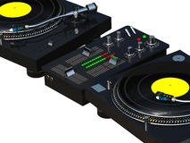 DJ mixing set close up Stock Photo