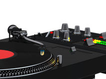 DJ mixing set close up Royalty Free Stock Images