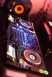 DJ mixing set Stock Image
