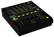 DJ mixing table Royalty Free Stock Images