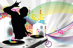 DJ music royalty free illustration