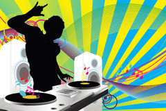 DJ music vector illustration