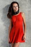 Dj, music. Beautiful girl with headphones Stock Images