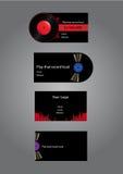Dj Music Business cards Stock Image