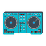 Dj music equipment icon Stock Image