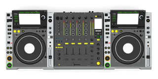 DJ music mixer Stock Images