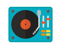 Dj music mixer equipment channels discotheque technology party nightclub mixing vector illustration. Stock Photo