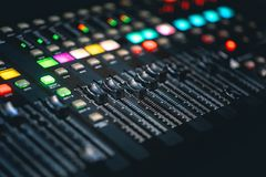 DJ Music mixing console royalty free stock images