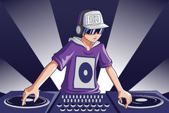 dj-musik Arkivbilder