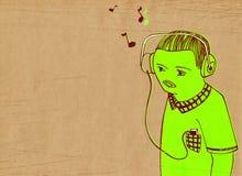 dj-musikanmärkningar stock illustrationer