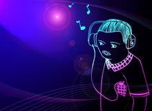 dj muzyki notatki ilustracji