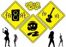 dj muzyki znaki Zdjęcia Royalty Free