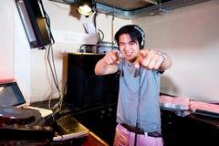 DJ na ação Imagem de Stock Royalty Free