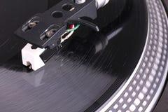 Dj needle. On vinyl record , closeup Stock Image