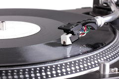 Dj needle on turntable Stock Photo