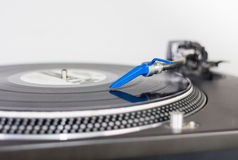 DJ needle on a vinyl record Royalty Free Stock Photo