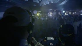DJ in Night Club stock video