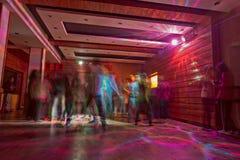 DJ Night at Night Club. People enjoying dancing at Disco Royalty Free Stock Images