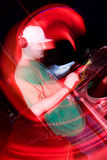 DJ in the nightclub. Hip-hop deejay playing in the nightclub Royalty Free Stock Images