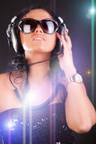 Dj in nightclub Stock Photo