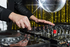 DJ at nightclub party Royalty Free Stock Photography