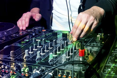 DJ at nightclub party Royalty Free Stock Images