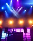 DJ at nightclub on scene Stock Image