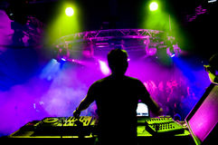 DJ no concerto Foto de Stock Royalty Free