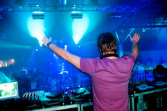 DJ no concerto Imagens de Stock Royalty Free