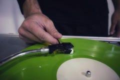DJ no console Fotos de Stock