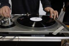 DJ no console Fotos de Stock Royalty Free