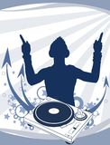 DJ no partido. Aabstraction Foto de Stock