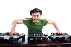 DJ no trabalho Foto de Stock