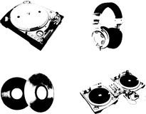 Dj objects Royalty Free Stock Image