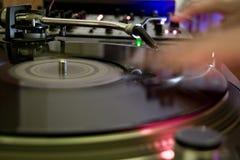 DJ op het werk stock fotografie