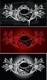 DJ Ornate Banner. Vector illustartion royalty free illustration