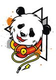 DJ Panda Illustration stockfotografie